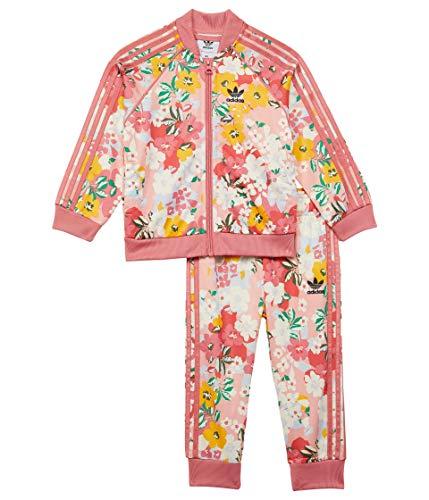 adidas Baby Girl's Superstar Track Set (Infant/Toddler) Trace Pink/Multicolor/Hazy Rose 3 Months