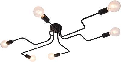 Sin bombilla OYI Moderno L/ámparas de ara/ña Iluminaci/ón de techo 8 E27 para la sala de estar dormitorio Cafe
