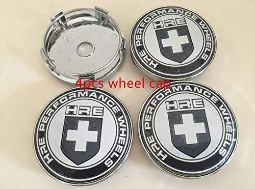 4pcs 56.5mm 60mm HRE Car emblem Wheel Center Hub Cap wheel Badge covers Auto accessories - (Color Name: 60mm black)