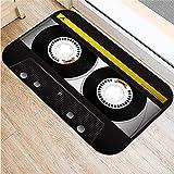 HLXX Tapetes de cinta magnética con impresión 3D, antideslizante, para baño, cocina, entrada, A10, 60 x 90 cm