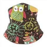 DJNGN Blumeule Herz Fahrradkamera Unisex Mikrofaser Halswrmer Kopfbedeckung Gesicht Schal Maske fr Winter Kaltwetter Maske Bandana B