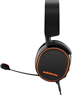 SteelSeries Arctis 5 RGB Illuminated Gaming Headset with DTS Headphone:X 7.1 Surround for PC, PlayStation 4, VR, Android and iOS - Black (Renewed)