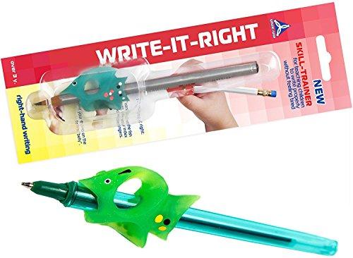 Agarre Lápiz para niños de escritura que controla el ángulo de los dedos – write-it-right skill-trainer para escritura para diestros (4783)