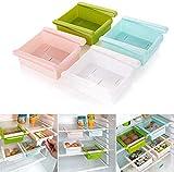 kedeg Slide Freezer Kitchen Fridge Space Saver Organizador Storage Rack Shelf Holder (Color Aleatorio) (2pc s)