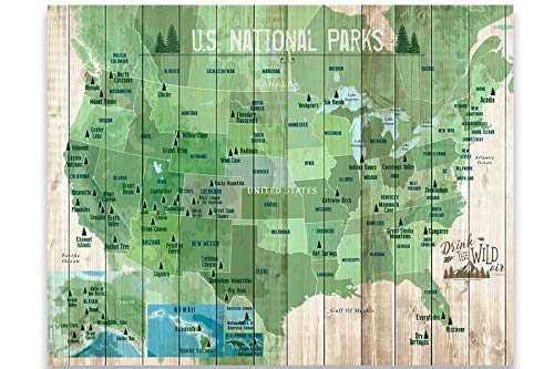 National Parks of USA, American Outdoors, 16X20 Inches, Paper Poster, 61 Parks