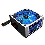 Mars Gaming MPZE750 - Fuente de alimentación gaming para PC (750 W, 80 plus silver, PFC activo, modular, 10 sistemas de protección, iluminación LED, ventilador 14 cm), color blanco
