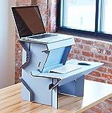 Spark by Ergodriven | 26' Standing Desk in 3 Height Sizes | Sit Stand Converter - Desktop Riser - Platform for Monitor - Laptop Workstation - Medium
