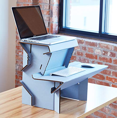 Spark by Ergodriven | 26' Standing Desk in 3 Height Sizes | Sit Stand Converter - Desktop Riser - Platform for Monitor - Laptop Workstation - Medium