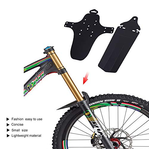 VOANZO Guardabarros de Bicicleta, Guardabarros de Bicicleta de montaña Guardabarros de neumáticos Traseros Guardabarros ultrafinos portátiles (Negro)