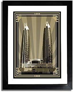 صورة الدماك برج سيبيا مع إطار ذهبي بدون نص F07-M (A1)
