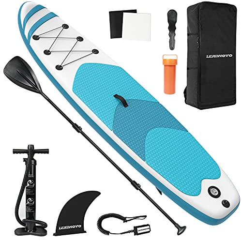 LEADNOVO Inflatable Stand Up Paddle Board for Adults 10.5' with Premium SUP...