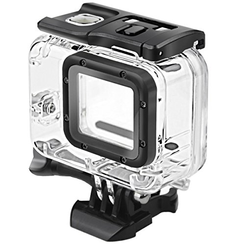 FitStill Double Lock Waterproof Housing for GoPro Hero 2018/7/6/5 Black, Protective 45m Underwater Dive Case Shell with Bracket Accessories for Go Pro Hero7 Hero6 Hero5 Action Camera