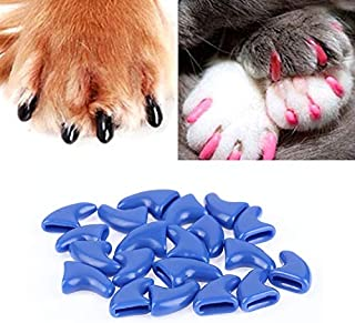 New Home Pet Supplies 20 PCS Silicone Soft Cat Nail Caps/Cat Paw Claw/Pet Nail Protector/Cat Nail Cover, Size:XS(Black) Pe...