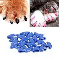 ペット製品 20ピースシリコーンソフト猫ネイルキャップ/猫の爪爪/ペットネイルプロテクター/猫ネイルカバー 小動物用品 (色 : Gray)