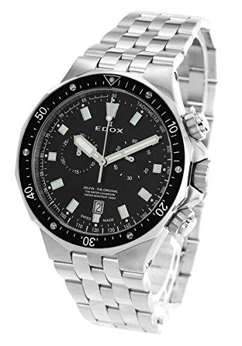 エドックス デルフィン クロノグラフ 腕時計 メンズ EDOX 10109-3M-NIN [並行輸入品]