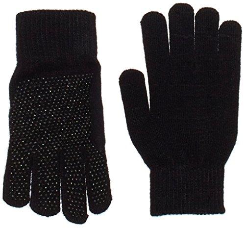 Pfiff 011256 Handschuhe Grippy mit Noppen Winterhandschuhe Universalgröße Unisex, Schwarz