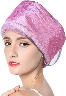 Gorro de vaporizador eléctrico para el cabello, máscara para el cabello, sombrero calefactor para spa, tratamiento térmico en el hogar, casco de vaporizador de belleza, sombrero para el cuidado