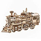 ROKR 3D DIY Wooden Puzzle Train Model - Self-Assembly Mechanical Model-Brain Teaser Game for Teens and Adults-Hand Craft Set-Unique Christmas/Birthday Gift (Locomotive)