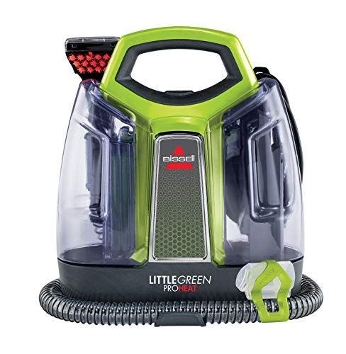 BISSELL 2513E Little Green Proheat Portable Deep Cleaner/Spot Cleaner with self-Cleaning HydroRinse Tool for Carpet and Upholstery