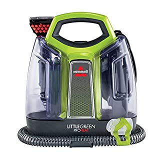 BISSELL 2513E Little Green Proheat Portable Deep Cleaner/Spot Cleaner with self-Cleaning HydroRinse Tool and OXY Powered Formula for Carpet and Upholstery (B07QCW1MZX) | Amazon price tracker / tracking, Amazon price history charts, Amazon price watches, Amazon price drop alerts