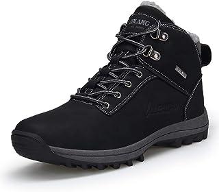 Uomo Donna Stivali da Neve Inverno Impermeabili Scarpe da Escursionismo Trekking Outdoor Pelliccia Sneakers Nero Marrone 3...