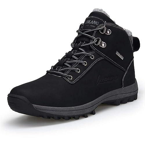 scarpe impermeabili nere uomo stivaletto