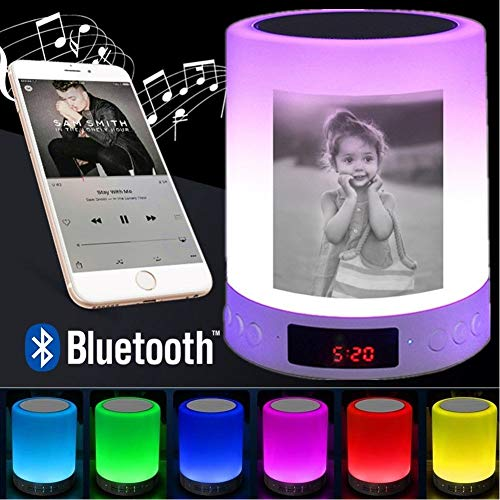 Luz de Noche 3D Foto Personalizada Luz de Noche LED Pantalla de música Mp3 Lámpara inalámbrica Bluetooth Toque Regalo de luz Nocturna Recargable USB USB