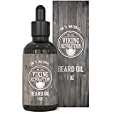 Viking Revolution Beard Oil Conditioner - All Natural Unscented Organic Argan & Jojoba Oils - Softens, Smooths & Strengthens Beard Growth - Grooming Beard and Mustache Maintenance Treatment, 1 Pack