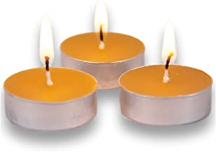 KitchenWize Beeswax Tealight Candles – Lead Free Wick - 100% Beeswax Candles - 20 Pack