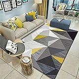 alfombras para Dormitorio Alfombra Gris, patrón de triángulo, fácil de Extender para el Ocio y Alfombra cálida y cómoda Alfombra Dormitorio Moderna -Gris_Los 200x280cm