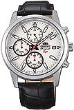Orient Herren Chronograph Quarz Uhr mit Leder Armband FKU00006W0