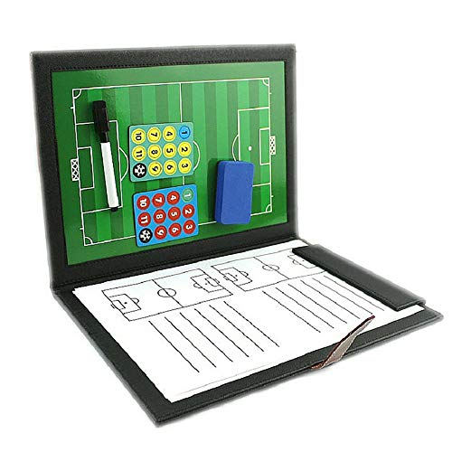 Liuxiaomiao Tactical Board Opvouwbare Voetbal Coaching Board Voetbal Coach Board Folder Marker Pen en Papier Draagbare Board Strategie Clipboard Kit voor Voetbal Hockey, enz