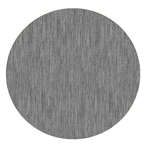 DecoHomeTextil Wachstuch Robuste Leinen Prägung Rund Oval Größe & Farbe wählbar Rund 80 cm Hellgrau abwaschbare Tischdecke