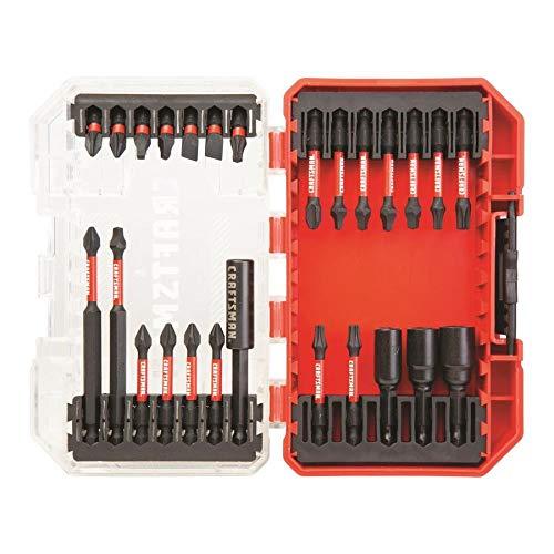 Craftsman juego de taladro/destornillador, puntas listas para impacto, 26 piezas...