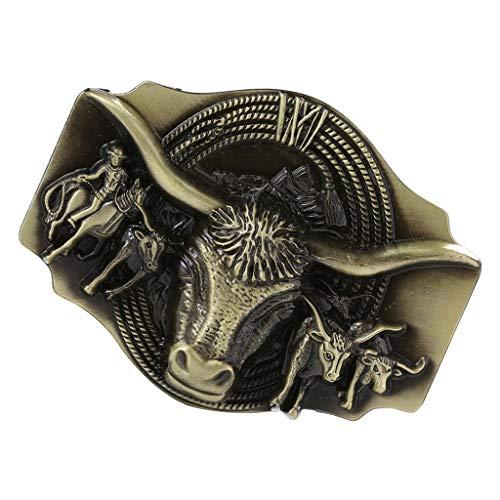 P Prettyia Hebilla de Cinturón de Vaquero Occidental Broche de Correa de Cintura Bricolaje