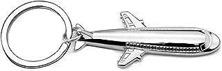 Schlüsselanhänger aus Edelstahl für Damen und Herren, Flugzeug-Anhänger für Auto, Geldbörse, Tasche, Schlüsselanhänger, Zu...