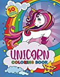 Unicorn Coloring Book: For kids ages 4-8, 50 adorable designs for boys and girls (US edition)