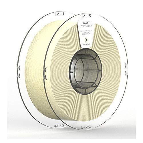 Filamento per stampante 3D da 1 kg (2,2 lb), filamento in nylon PA6 K7 da 1,75 mm, robusto e resistente all'usura-Naturale