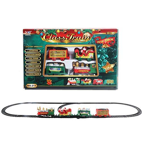 BaiHu Tren eléctrico de Navidad Tren de Vacaciones de Invierno, Vía de...