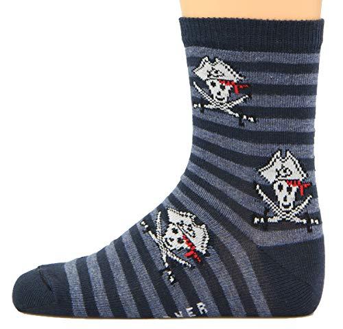 Max Lindner Socken Pirat dunkelblau Größe 27, 28, 29, 30-5erPack