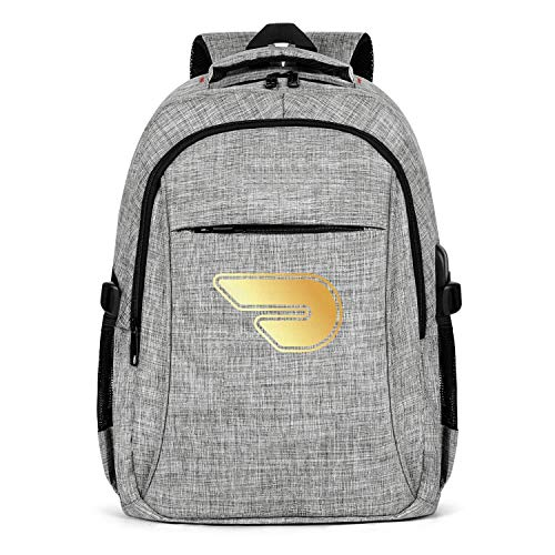 Laptop Backpack Water Repellent Doordash-Flash-Gold-Online-Food-delivery- College School Computer Bag with USB Charging Port for Men Womens College Backpack Fits 15.6 Inch Laptop Notebook-Grey