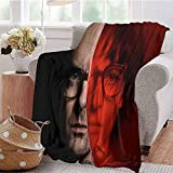 HouseDecor Blankets It Chapter Two Bill Hader As Richie Tozier Mp Throw Blanket Gifts for Kids and Woman 60X35 Inch