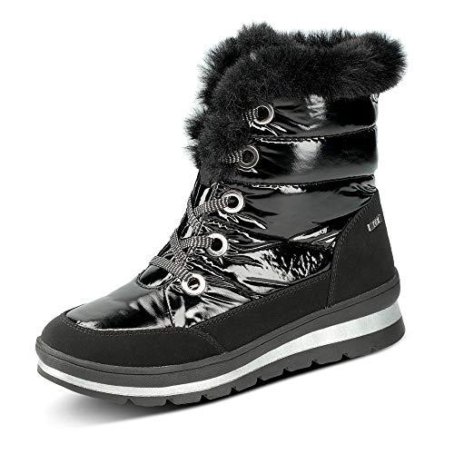 CAPRICE Damen Stiefel, Frauen Winterstiefel,lose Einlage, Women's Women Woman Freizeit leger Winter-Boots fellboots warm,Black Comb,38.5 EU / 5.5 UK