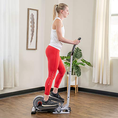 Product Image 11: Sunny Health & Fitness Magnetic Standing Elliptical with Handlebars – SF-E3988, Grey