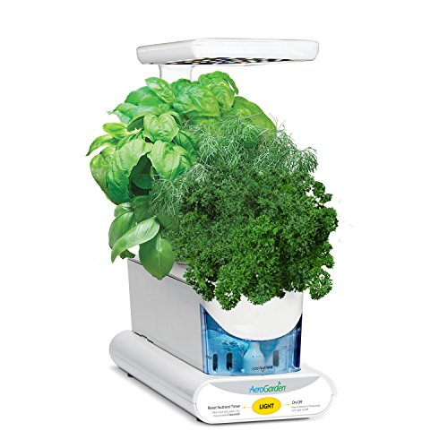 AeroGarden Sprout - Kit de cultivo interior smart garden, 3 capsulas, 10W, blanco