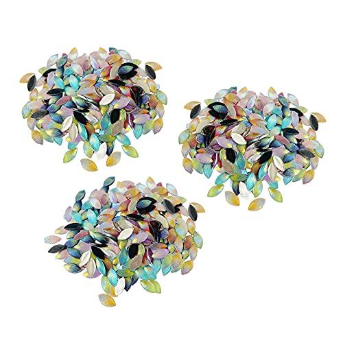 oshhni 600 Piezas de Concha Patrón de Diamantes de Imitación Brillante Vitral Horquilla Macetas