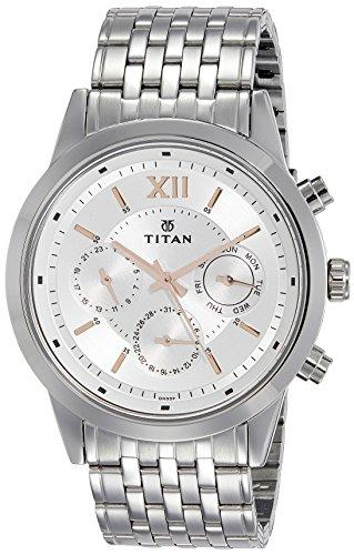 Titan Neo Analog Silver Dial Men's Watch 1766SM02 / 1766SM02