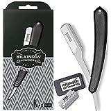 Wilkinson Sword Classic - Navaja Clásica de Afeitar de Barbero - Accesorio Profesional de Afeitado y Cuidado de Contorno de Barba + 5 Recambios de Doble Hoja