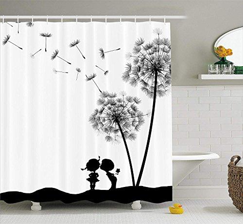 cortinas de baño antimoho con mariposas