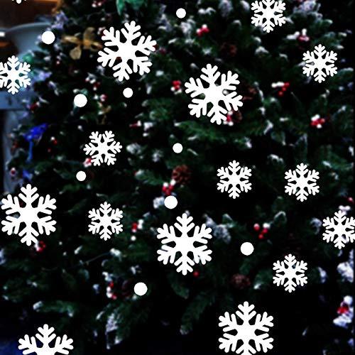 BLOUR Feliz Navidad Pegatinas de Pared Centro Comercial Restaurante Copo de Nieve Pegatinas de...